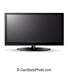 televisión, lcd, pantalla