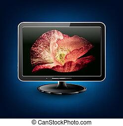 televisión, lcd, plasma, vector
