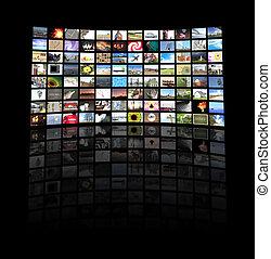televisión, panel