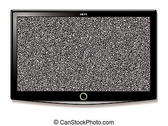 televisión, pared, lcd, cuelgue, estático