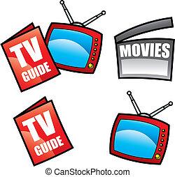 televisión, televisión, guía