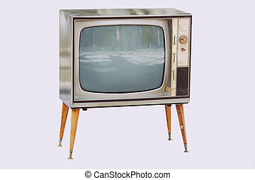 televisión, vendimia, viejo
