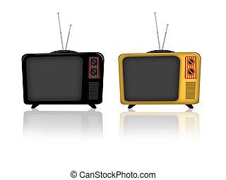 televisión, viejo
