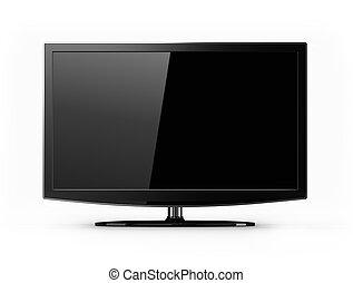 televisión, widescreen, aislado