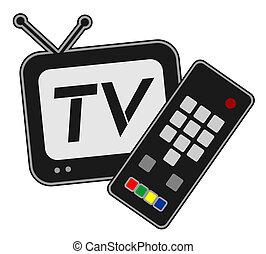 televisión, y, comando