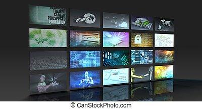 televisie, fabriekshal, technologie