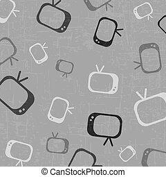 televisie, tekening, achtergrond