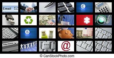television, ælde, kanaler, baggrund, digitale, fremtidsprægede