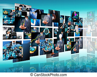 Television and internet production .technology and business conc