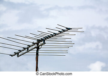 television antenna close up shot