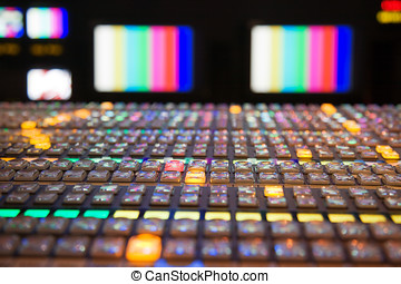 Television Broadcast Control Panel - Television gallery with...
