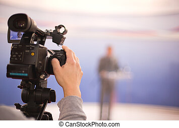 television broadcasting - Video camera for news TV...