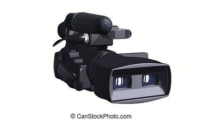 Television Camera 3D dual-lensed