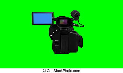Television camera on green - 3d render of television camera...