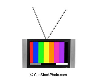 Television - A television isolated against a white...