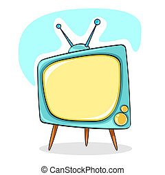 Television - illustration of modern television on abstract...