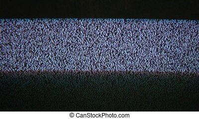 Television flicker signal tv noise screen with static caused a by bad reception