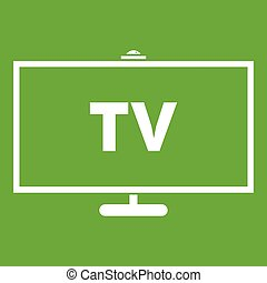 Television icon green