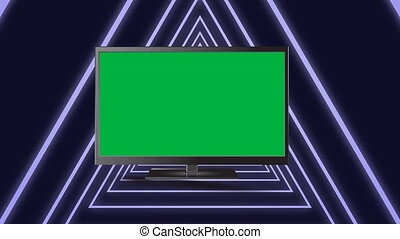 Television in a triangle tunnel