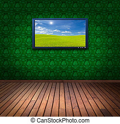 television in vintage room