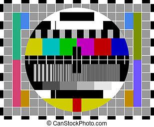 television, prøve, signal, kammerat