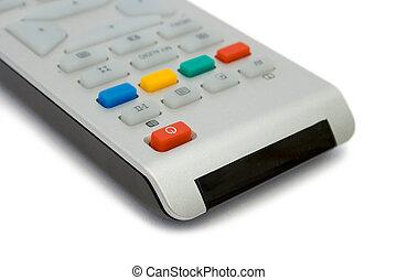 Television remote control, close-up