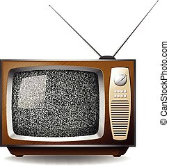 Television - Retro television set with black no signal