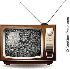 Television - Retro television set with black no signal