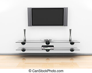 Television screen - 3D render of a television screen on a...