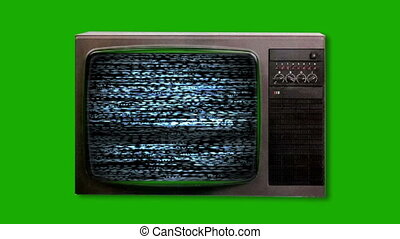 Television screen with static - TV static turning on....