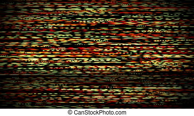 Television screen with static