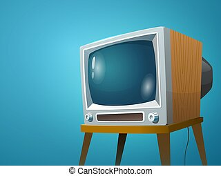 Television set vector illustration. Cartoon colorful image