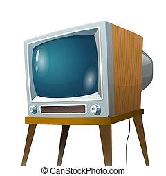Television set vector illustration. Cartoon colorful isolated image on white background