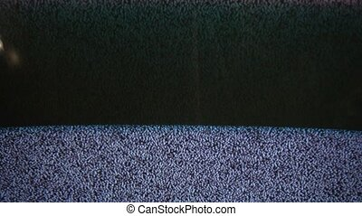 Television signal tv noise flicker screen with static caused a by bad reception
