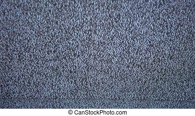 Television signal tv noise screen flicker with static caused a by bad reception