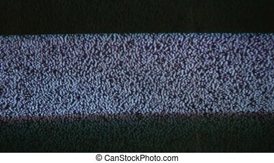 Television signal tv noise screen with flicker static caused a by bad reception