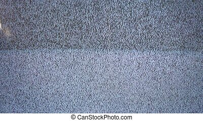Television signal tv noise screen with static caused a by bad flicker reception