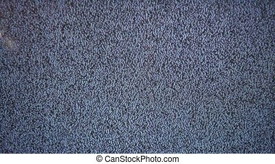 Television signal tv noise screen with static caused a by flicker bad reception