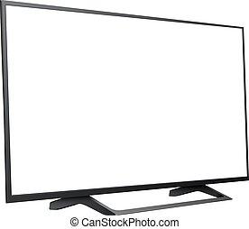 television skärma, isolerat, tom