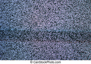 Television Static - A macro of a T.V. with nothing but...