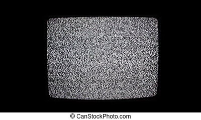 Television Static Black and White