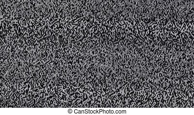Television static noise and a black screen at the time of...