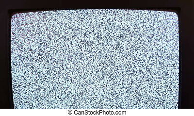 Television static noise black white