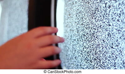 Television static noise black white - Noise on the TV is...