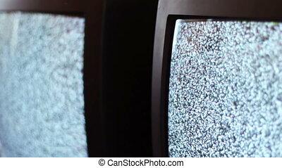 Television static noise black white