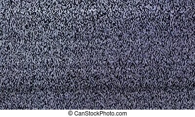 Television static noise, black, white - Television static...