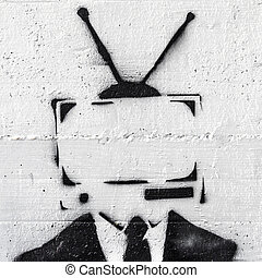 Television - A representation of the mind control of the...