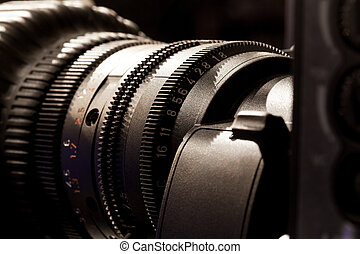 Television studio camera lens