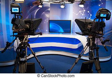 Television Studio - TV professional digital video camera -...