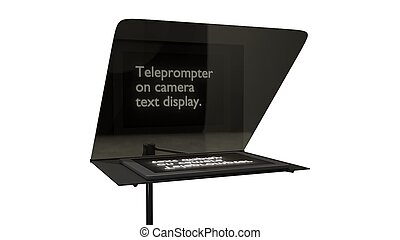 television teleprompter without camera 3d illustration